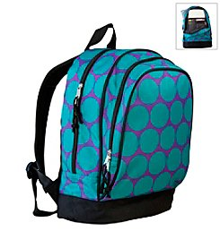 Wildkin Big Dots Sidekick Backpack - Aqua/Purple