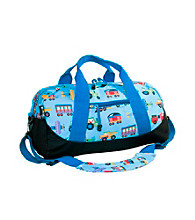 Wildkin Olive Kids Trains, Planes & Trucks Duffel Bag - Blue