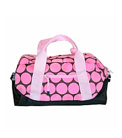 Wildkin Big Dots Duffel Bag - Pink/Mocha