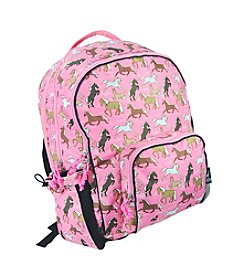 Wildkin Horses in Pink Macropak Backpack - Pink