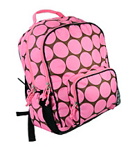 Wildkin Big Dots Pink Macropak Backpack - Pink/Mocha