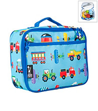Wildkin Olive Kids Trains, Planes & Trucks Lunch Box - Blue