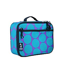 Wildkin Big Dots Lunch Box - Aqua/Purple