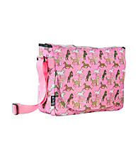 Wildkin Horses in Pink Laptop Messenger Bag - Pink