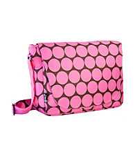 Wildkin Big Dots Laptop Messenger Bag - Pink/Mocha