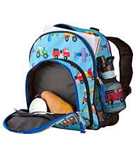 Wildkin Olive Kids Trains, Planes & Trucks Pack 'n Snack Backpack - Blue