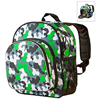 Wildkin Camo Pack 'n Snack Backpack - Green/Multi