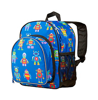 Wildkin Olive Kids Robots Pack 'n Snack Backpack - Blue