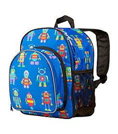 Olive Kids Robots Pack 'n Snack Backpack - Blue