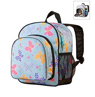 Wildkin Olive Kids Butterfly Garden Pack 'n Snack Backpack - Blue