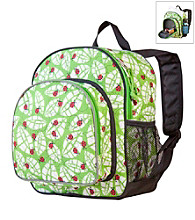 Wildkin Lady Bug Pack 'n Snack Backpack - Green