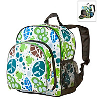 Wildkin Lily Frogs Pack 'n Snack Backpack - White/Multi