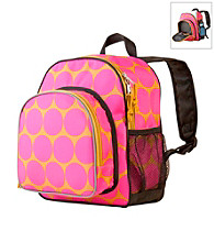 Wildkin Big Dots Pack 'n Snack Backpack - Hot Pink/Yellow