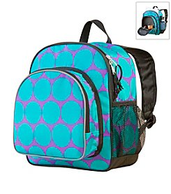 Wildkin Big Dots Pack 'n Snack Backpack - Aqua/Purple