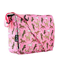 Wildkin Horses in Pink Kickstart Messenger Bag - Pink