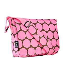 Wildkin Big Dots Kickstart Messenger Bag - Pink/Mocha