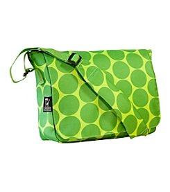 Wildkin Big Dots Kickstart Messenger Bag - Green/Yellow