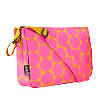 Wildkin Big Dots Kickstart Messenger Bag - Hot Pink/Yellow
