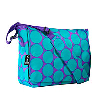 Wildkin Big Dots Kickstart Messenger Bag - Aqua/Purple