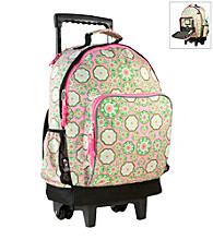 Wildkin Majestic High Roller Rolling Backpack - Pink