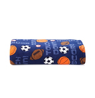 LivingQuarters Kids Sports Micro Cozy Blanket