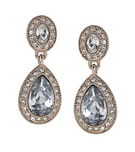 Carolee® Pave Crystal Double Drop Earrings