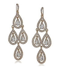 Carolee® Pave Crystal Chandelier Earrings