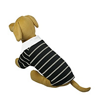 Pet Life™ Fashion Collared Striped Polo Shirt