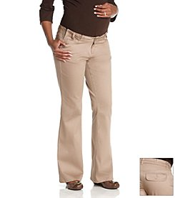 Three Seasons Maternity™ FitWise™ Bedford Khaki Corduroy Pants