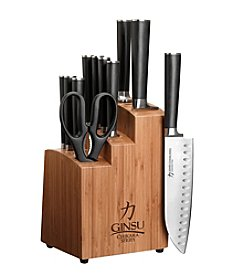 "Ginsu® ""Chikara"" 12-pc. Cutlery Set - Black/Natural"