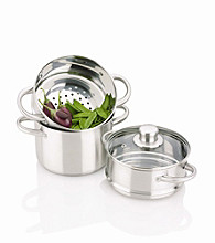 Fagor Stainless Steel Double Boiler with Steamer Insert