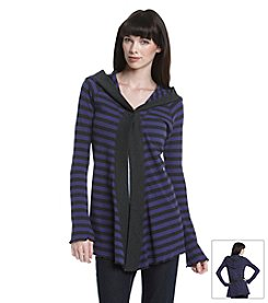 Calvin Klein Performance Striped Hooded Thermal Cardigan