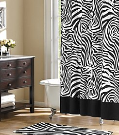 Home Essence Wild Side Black and White Shower Curtain