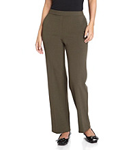 Briggs New York® Petites' Flat Front Pull-On Pants