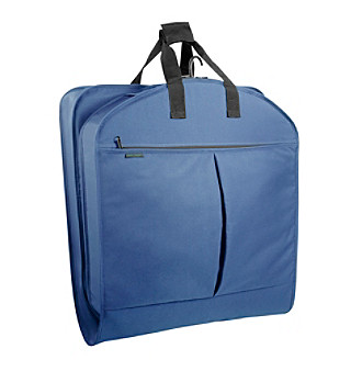 "Wally Bags 45"" Extra-Capacity Navy Garment Bag with Pockets"