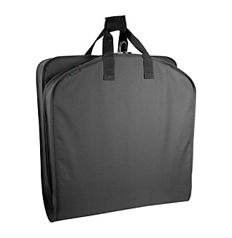 "Wally Bags® 42"" Black Garment Bag with Pocket"