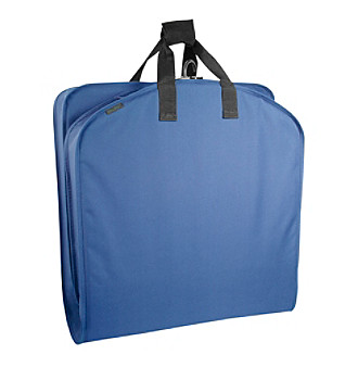 "Wally Bags 42"" Navy Garment Bag with Pocket"