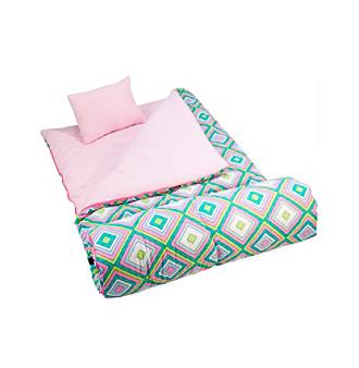 Wildkin Pink Retro Sleeping Bag