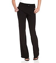 Memoir Juniors' Sunset Extended-Tab Black Pants