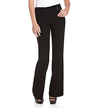 Memoir Juniors' Melrose Triple-Button Extended Tab Black Pants