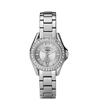 Fossil® Mini Riley Silvertone Watch