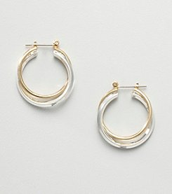 Relativity® Hoop Earrings - Goldtone/Silvertone