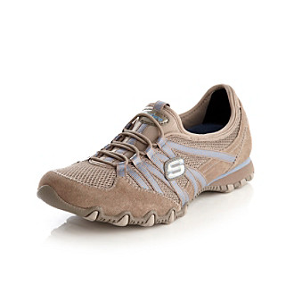 "Skechers® Sport ""Hot Ticket"" Athleisure Shoe - Taupe/Blue"