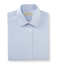 MICHAEL Michael Kors® Men's Grid Dress Shirt - Blue Stream