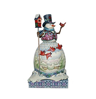 Heartwood Creek by Jim Shore Cardinal Snowman Ornament