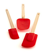 Bethany Housewares Set of 3 Silicone Spatulas - Red