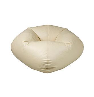 Ace Bayou Large Eggshell Matte Bean Bag Chair