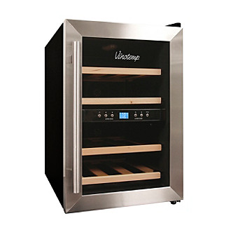 Vinotemp® 12-Bottle Dual Zone Stainless Steel Thermoelectric Wine Cooler