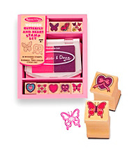 Melissa & Doug® Butterfly and Heart Stamp Set