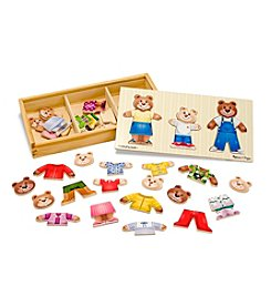 Melissa & Doug® Wooden Bear Family Dress-Up Set